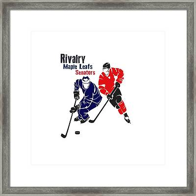 Hockey Rivalry Maple Leafs Senators Shirt Framed Print by Joe Hamilton