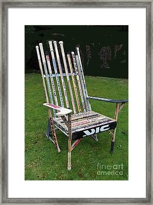 Hockey Stick Chair Framed Print