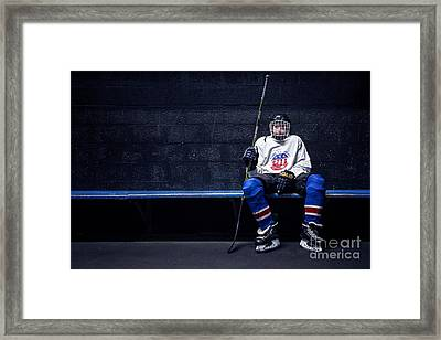 Hockey Strong Framed Print by Evelina Kremsdorf