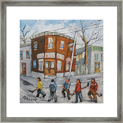 Hockey Town Montreal Created By Prankearts Framed Print by Richard T Pranke