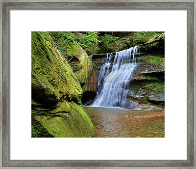 Hocking Hills Hidden Falls In Spring Framed Print by Dan Sproul