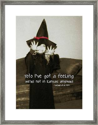 Hocus Pocus Quote Framed Print by JAMART Photography