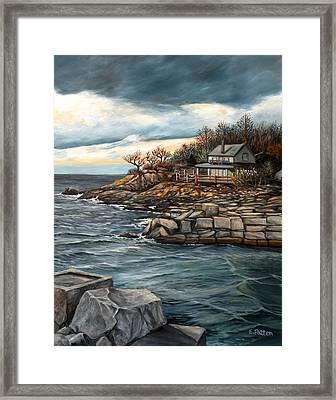 Hodgkins Cove Gloucester Ma Framed Print