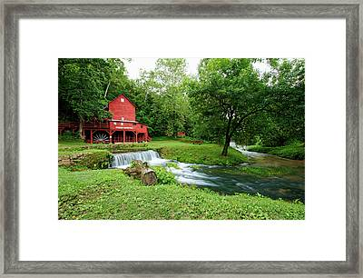 Hodgson Water Mill And Spring Framed Print