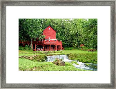 Framed Print featuring the photograph Hodgson Water Mill by Cricket Hackmann