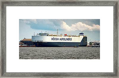 Framed Print featuring the photograph Hoegh Autoliners Heogh Maputo 9431850 At Curtis Bay by Bill Swartwout Fine Art Photography