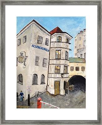 Hofbrauhaus  Framed Print by Andrea Barauskas