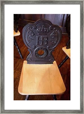 Hofbrauhaus Chair Framed Print by Darrell Foster