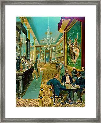 Hoffman House Bar 1890 Framed Print by Padre Art
