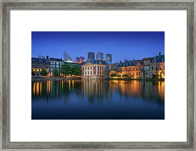 Hofvijver Blue Hour Framed Print