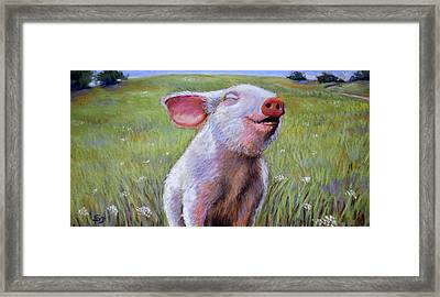 Hog Heaven Framed Print