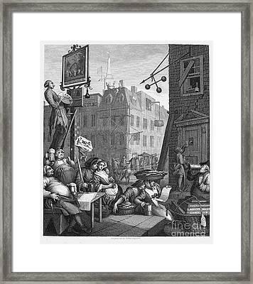 Hogarth: Beer Street Framed Print by Granger