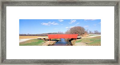 Hogback Covered Bridge, Madison County Framed Print by Panoramic Images