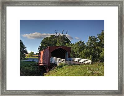 Roseman Covered Bridge Framed Print