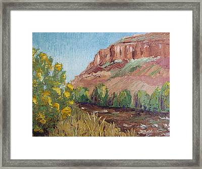 Hogback In Early Fall At Watson Lake Framed Print by Margaret Bobb
