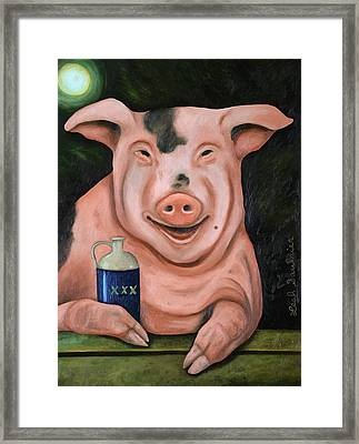 Hogging The Moonshine Framed Print by Leah Saulnier The Painting Maniac