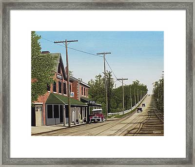Hoggs Hollow Toronto 1920 Framed Print by Kenneth M  Kirsch
