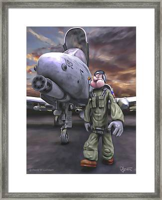 Framed Print featuring the painting Hogman by Dave Luebbert