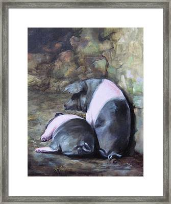 Hogs Of Bunratty Ireland Framed Print by Mary St Peter