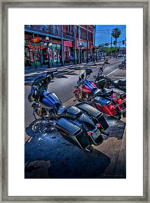 Hogs On 7th Ave Framed Print
