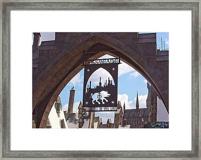 Hogsmeade Framed Print by Art Block Collections