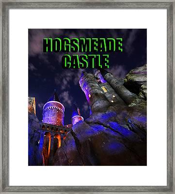 Hogsmeade Castle Poster Green Framed Print by David Lee Thompson