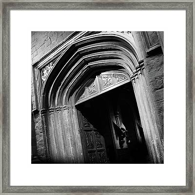 Hogwards Door  Framed Print by Gina Dsgn