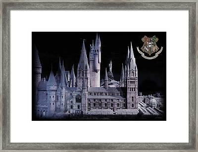 Hogwards School  Framed Print by Gina Dsgn