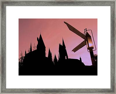 Framed Print featuring the photograph Hogwarts Castle by Juergen Weiss