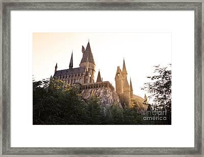Hogwarts Dusk Framed Print by Rebecca Parker