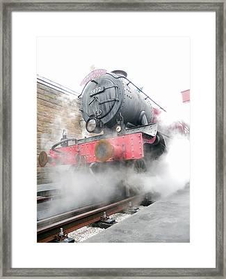 Framed Print featuring the photograph Hogwarts Express Train by Juergen Weiss