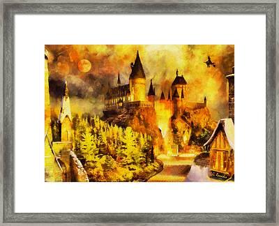 Hogwarts Framed Print by George Rossidis