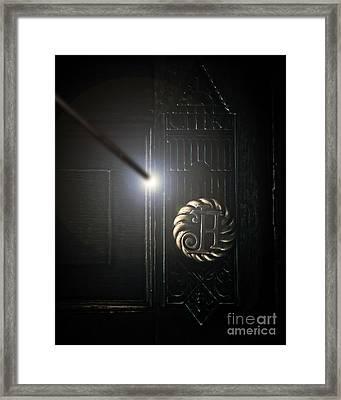 Hogwarts Handle Framed Print by Emily Kay