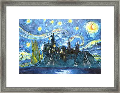Harry Potter Starry Night Framed Print by Dimex Studio