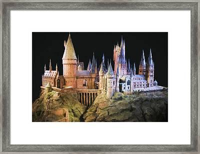 Hogwarts School Painting Framed Print