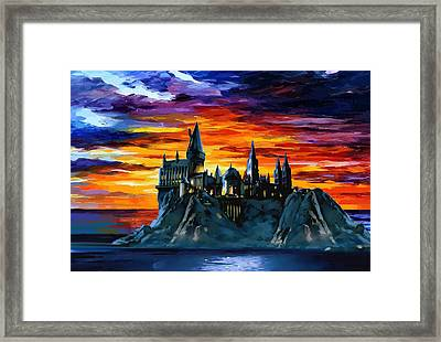 Hogwarts Sunset Framed Print