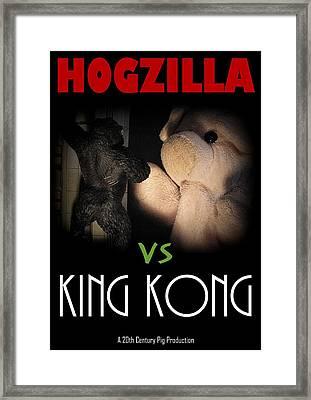 Hogzilla Vs King Kong Framed Print