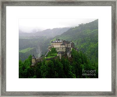Hohenwerfen Castle Framed Print by Sheila Ping
