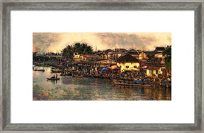 Framed Print featuring the digital art Hoi Ahnscape by Cameron Wood