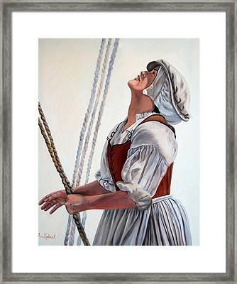 Hoisting Sails Framed Print