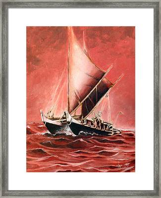 Hokulea Framed Print by Angela Treat Lyon