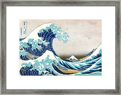 Hokusai Great Wave Off Kanagawa Framed Print