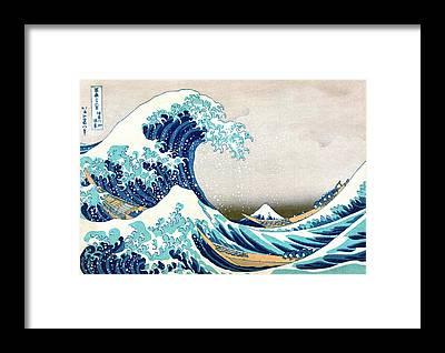 Hokusai Framed Prints