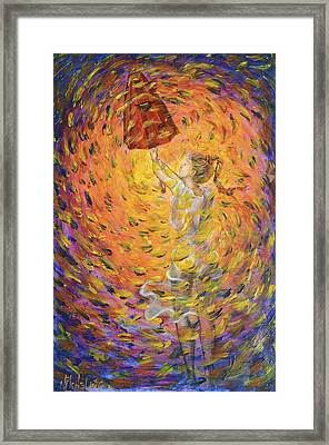 Framed Print featuring the painting Hold Back The Rain by Nik Helbig