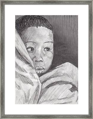 Framed Print featuring the drawing Hold Me Mom by Jean Haynes