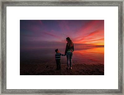 Hold My Hand Little Brother Framed Print
