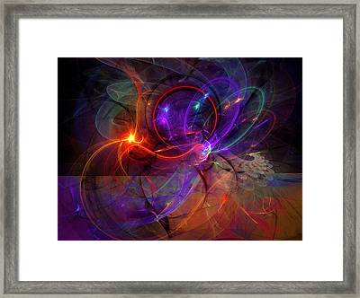 Hold On Love - Abstract Colorful Art Framed Print