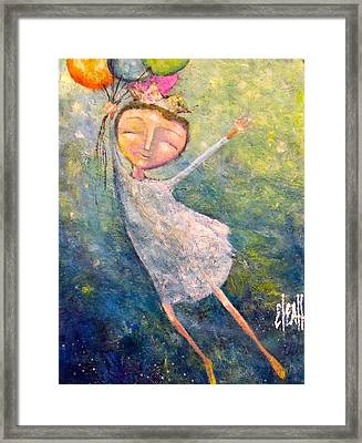 Framed Print featuring the painting Hold On Tight by Eleatta Diver