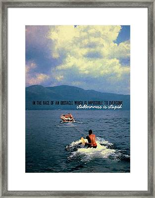 Hold On Tight Quote Framed Print by JAMART Photography