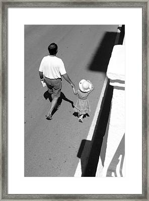 Hold On To Your Hat Framed Print by Jez C Self